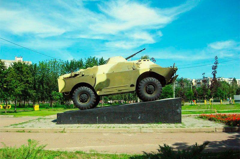 Фотография танка в парке воинов-интернационалистов