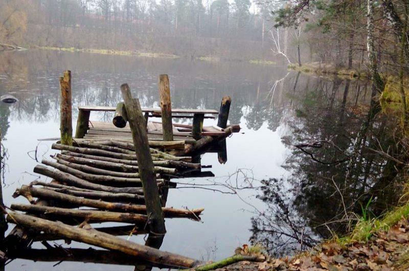 Остатки старинного моста в Пуще-Водице