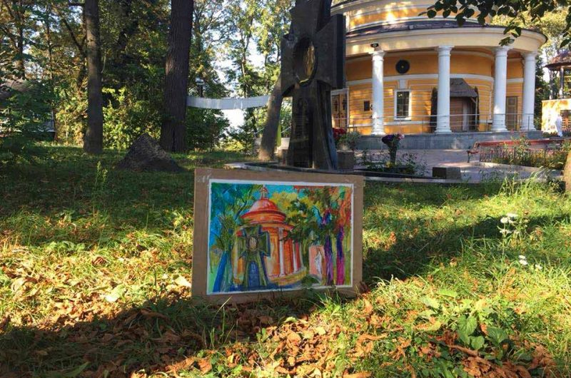 Аскольдова могила на рисунке художника