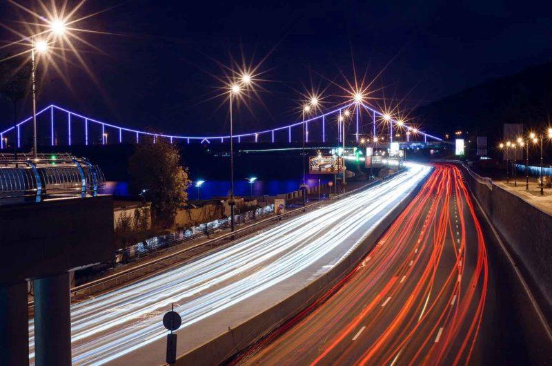 Ночной вид на Пешеходный мост