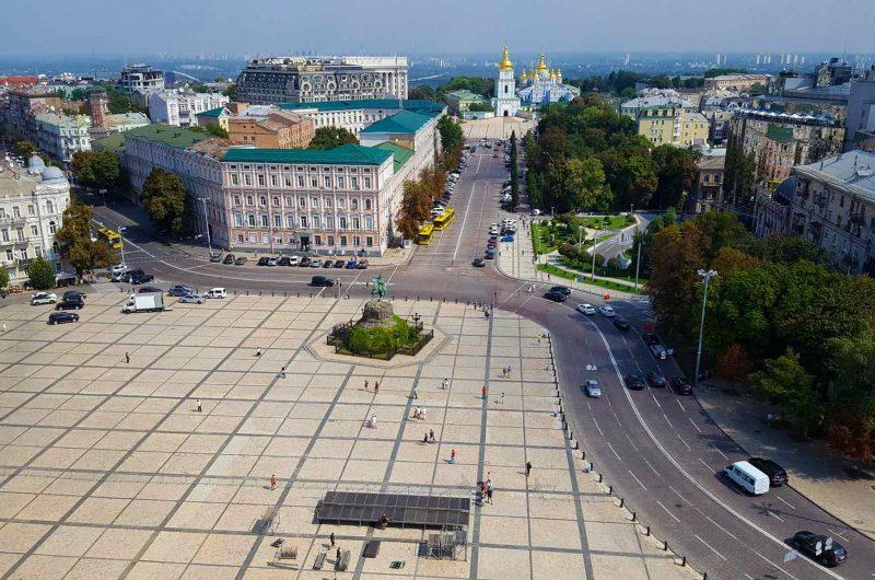 Софийская площадь с видом на Михайловский Златоверхий Монастырь