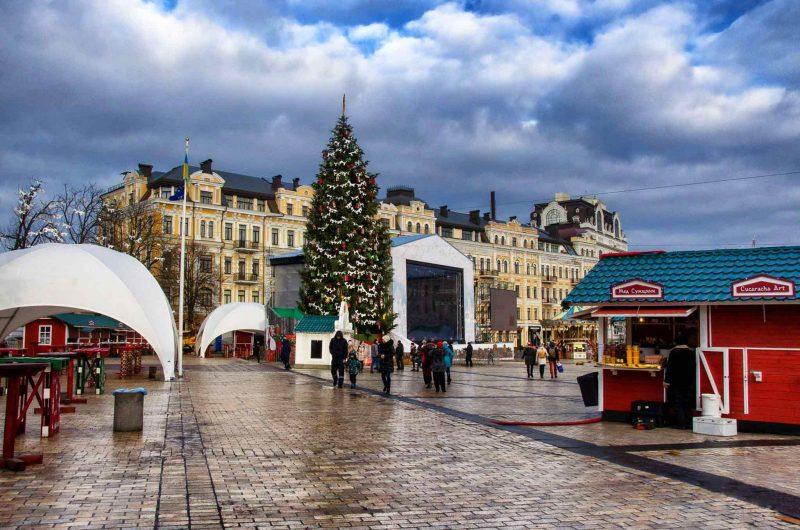 Новогодний городок в Киеве