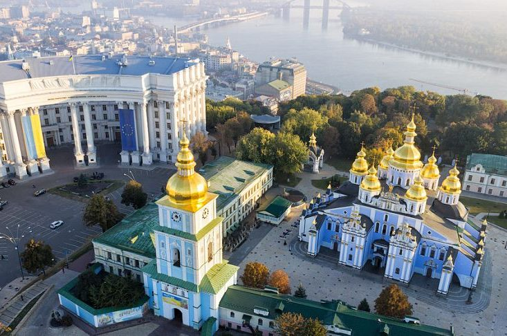 Полёт над Михайловской площадью