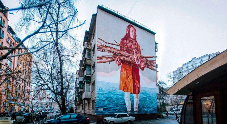 Мурал «Изменение климата» в Киеве