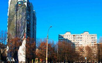 Мурал «Стриж» на улице Булаховского в Киеве